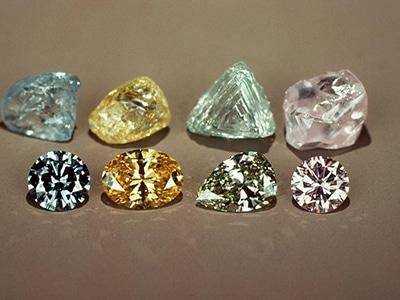 Colored Raw Diamonds